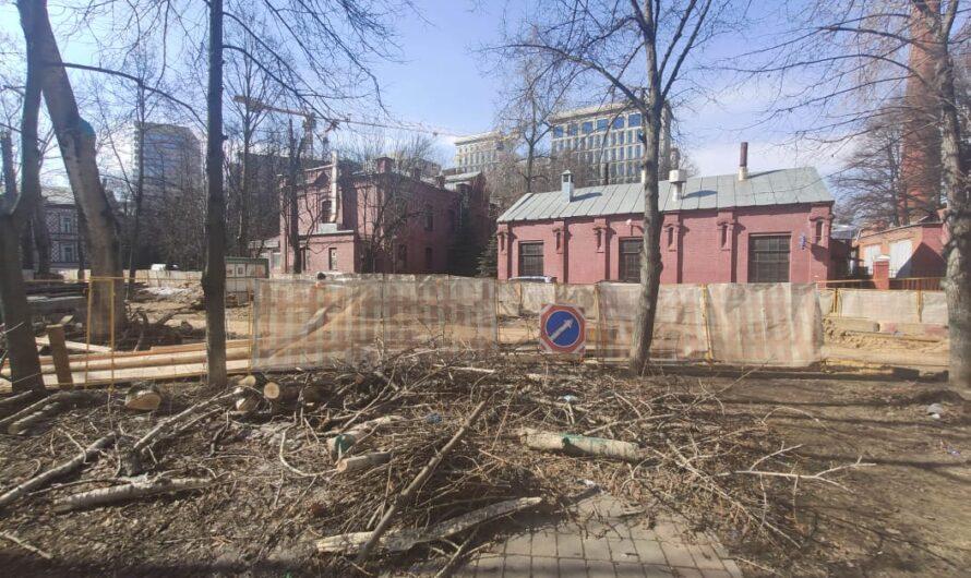 Строительные работы на Новоалексеевской